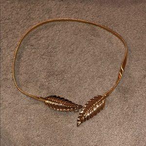 Gold Metal Leaf Belt